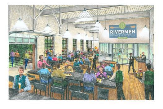 Interior of Rivermen Brewing Company.
