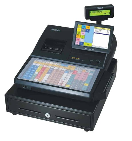 Image of a Sam4S Cash Register with Pole Display